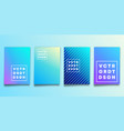 set blue gradient backgrounds with lines for vector image vector image