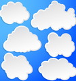 Set of clouds in the sky vector image