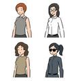 set women vector image