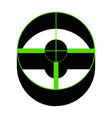 sight sign green 3d icon vector image vector image