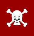 Skull and crossbones sad emoji skeleton head