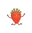 strawberry cute cartoon fruit vector image