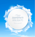 Summer background with blue sky and clouds vector image vector image