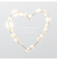 Valentines Day Glowing lights heart on vector image vector image