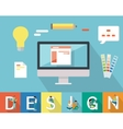 Web Design Conceptual in Flat Style vector image