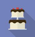 Wedding cake or festive cake Flat style icon vector image