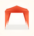 advertising outdoor event folding promotional tent vector image vector image