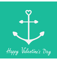 Anchor with shapes of heart Happy Valentines Day vector image vector image