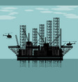 big oil platform vector image