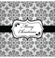black and white Christmas wrapping vector image vector image