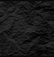 black crumpled paper texture pattern rough grunge vector image vector image