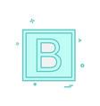 bold icon design vector image vector image