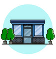 cafe building flat style vector image vector image