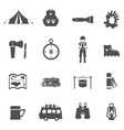Camping Icons Black vector image vector image