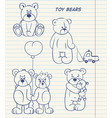 cartoon set of cute bears vector image