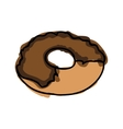 chocolate sweet donut vector image vector image