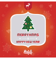 Christmas greeting card2 vector image vector image