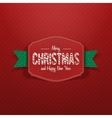 Christmas paper greeting red Card and green Ribbon vector image vector image