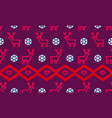 christmas snowflake and deer pattern background vector image vector image