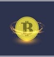 colden bitcoin isolated crypto currency icon vector image