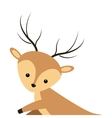 cute reindeer cartoon icon vector image vector image