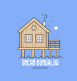 dream bungalow hotel logo vector image