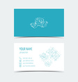 Engineering card 3D drawing Blue color vector image