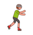 ethlete practicing skate avatar vector image vector image