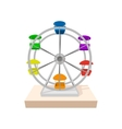 Ferris wheel cartoon icon vector image vector image