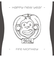 Fire Monkey Three Black vector image vector image