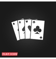 Game cards icon vector image