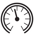 gauge meter icon vector image vector image