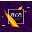 geometric gradient purple background fluid yellow vector image vector image