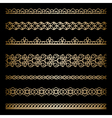Gold borders set vector image