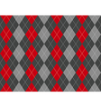 Gray argyle seamless pattern vector image vector image