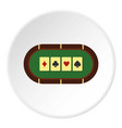 green poker table icon circle vector image