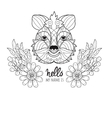 Hand drawn animal quokka doodle vector image vector image