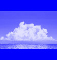 image collage of sea and sky with white clouds vector image