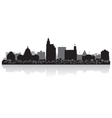 Jackson USA city skyline silhouette vector image vector image