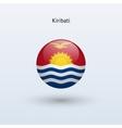 Kiribati round flag vector image vector image