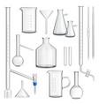 laboratory glassware set vector image vector image