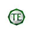 letter te diamond vector image