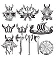 medieval warriors and his weapons labels vector image