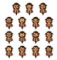 Monkey-businessman vector image vector image