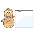 Peanut Cartoon Holding a Sign vector image vector image