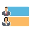 people icons with colorful dialog speech vector image vector image