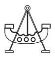 pirate ship of amusement park vector image