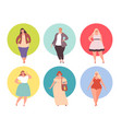plus size girls fat woman chubin large vector image