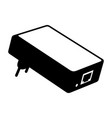 power over ethernet adapter poe vector image vector image