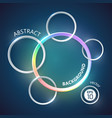 rainbow colored circles background vector image